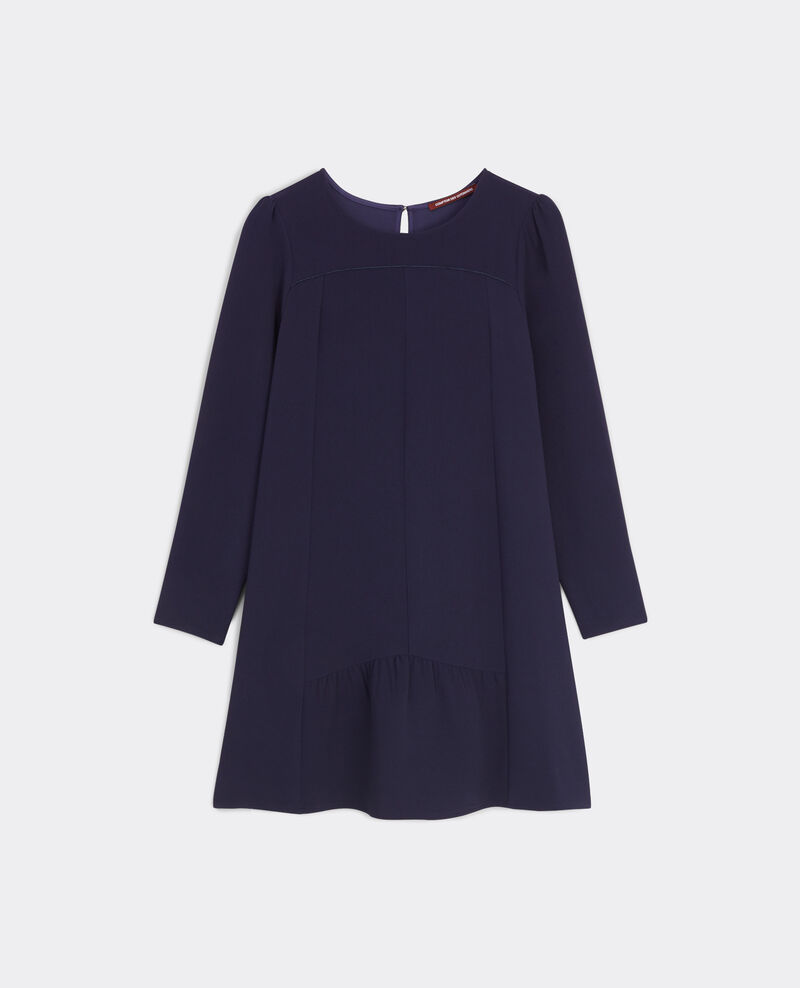 Robe courte volantée Dark ocean Belinda
