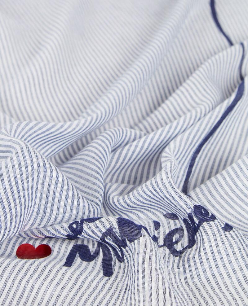 Pañuelo bandana con estampado marinero Ink blue/blanc Candana