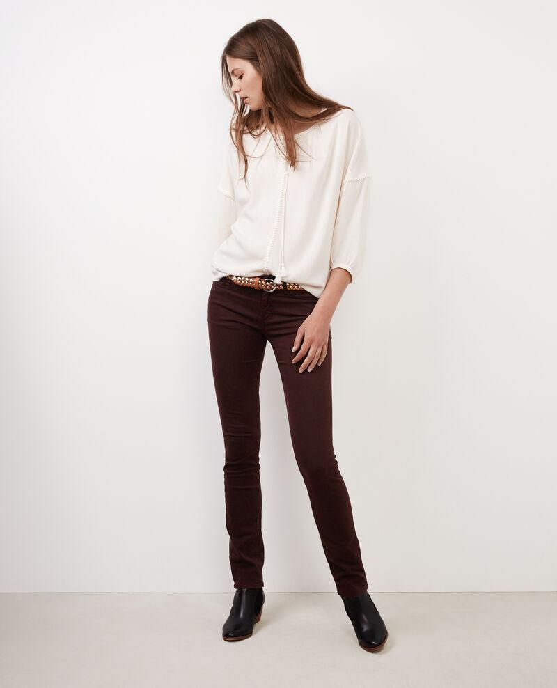 """Jeans rectos piel de melocotón """"Rendez-vous"""" Maroon Baimee"""