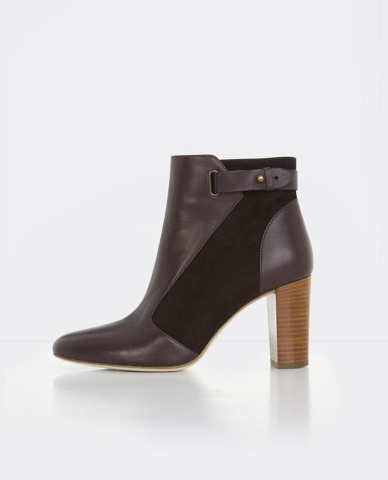 Botas de piel con tacón alto Maroon Bastille