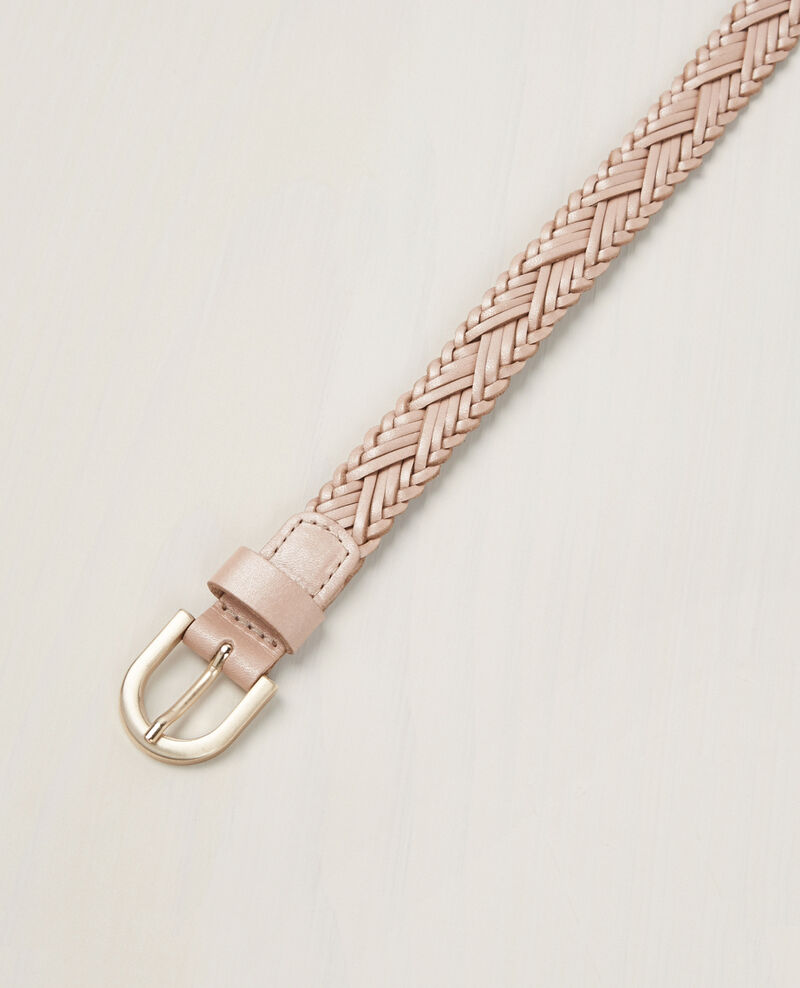 Cinturón trenzado de cuero Seashell Cancan