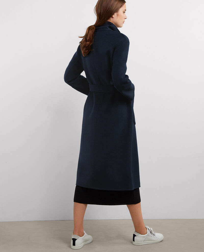 Manteau oversize avec laine Dark ocean Bille
