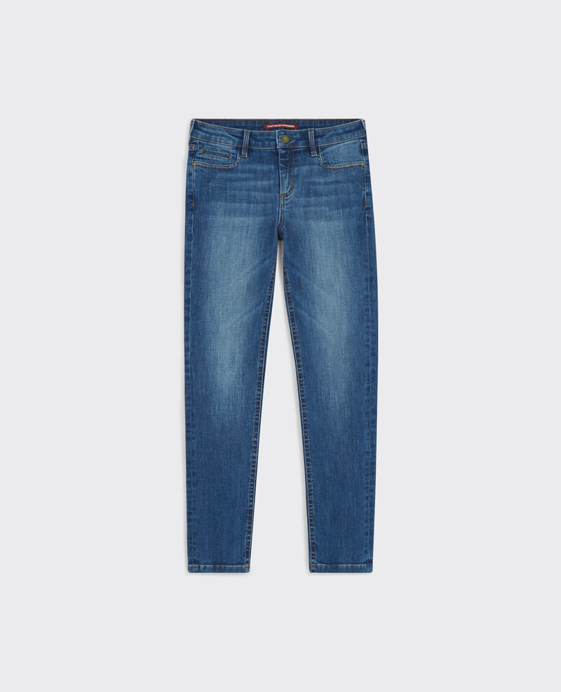"Jeans slim cropped ""Ma demoiselle"" Double stone blue Caradec"