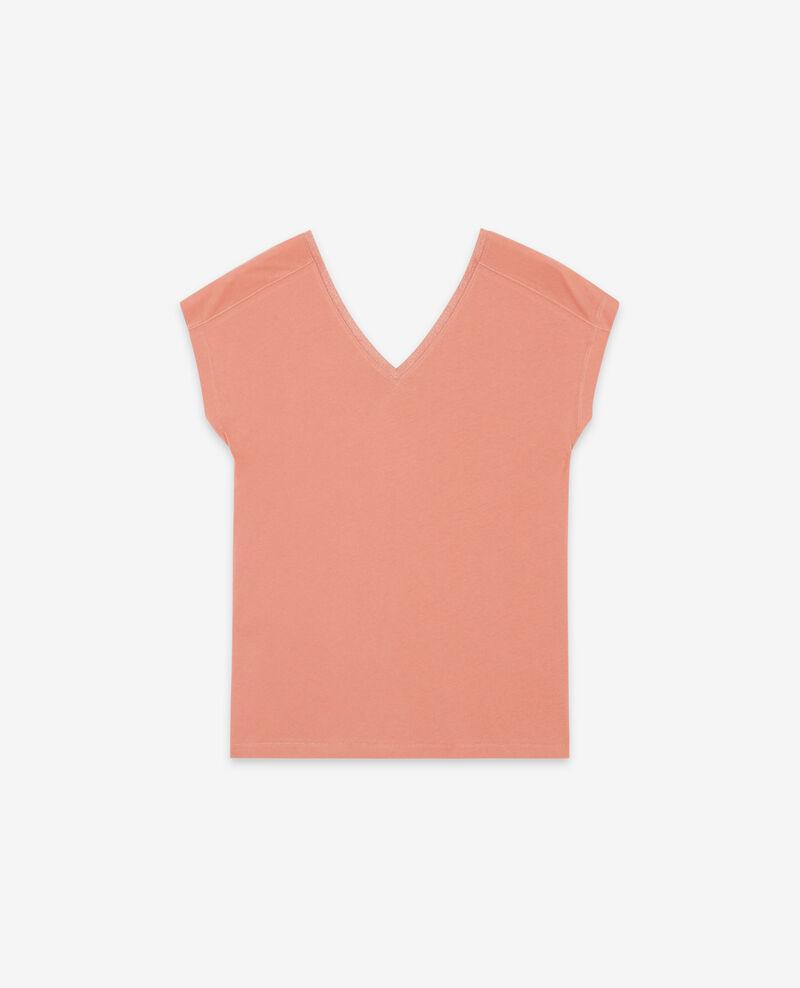 T-Shirt mit Lurex-Details Rose clay Dactylo