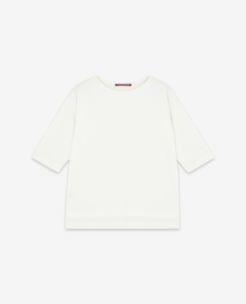 T-shirt with cropped sleeves Off white Dimac