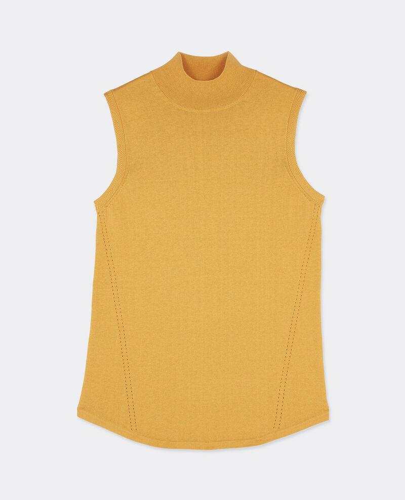Jersey sin mangas con cuello subido Light safron Benoit