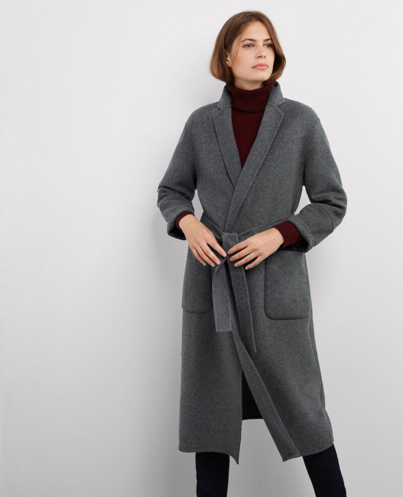 Manteau oversize avec laine Dark heather grey Bille