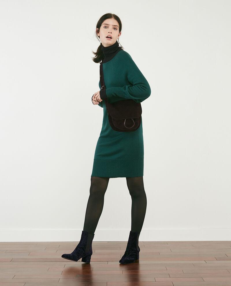 Robe en 100% mérinos Deep green Doison