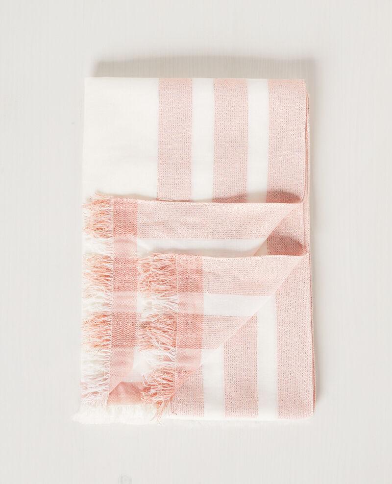 Tuch mit schimmernden Details Off white/cooper Cintillante