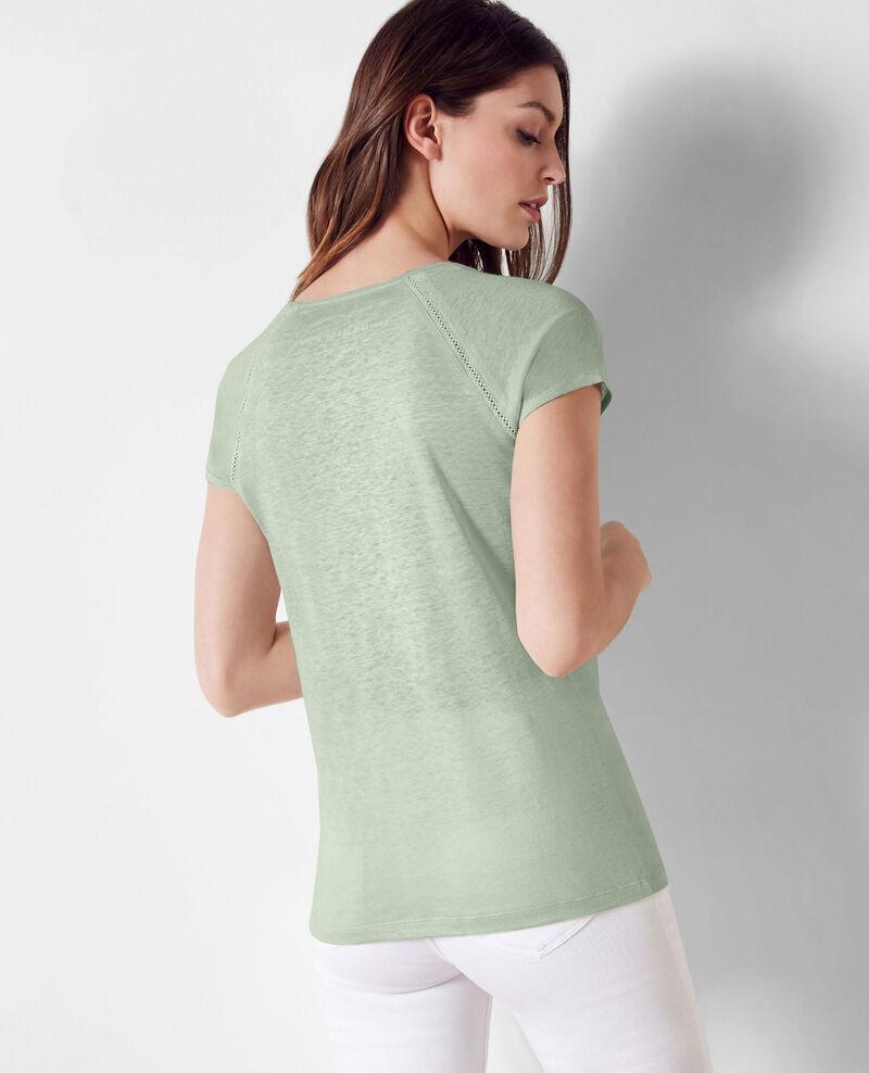 Leinen-T-Shirt Opaline Caramel