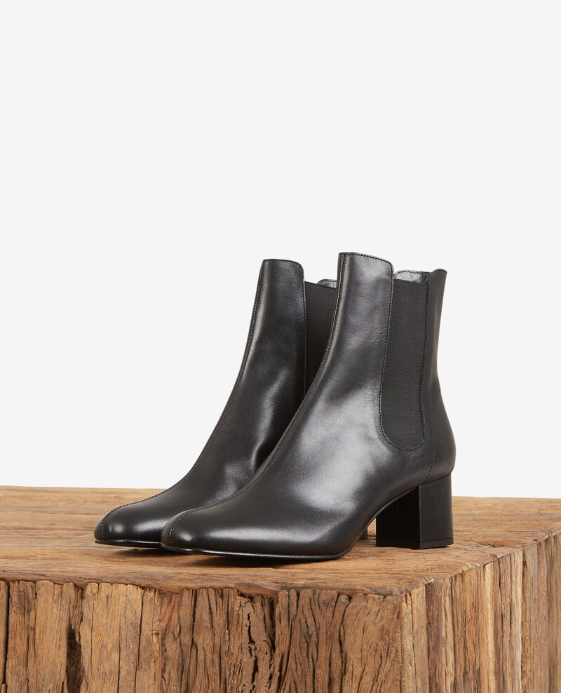 Leather ankle boots Noir Destin