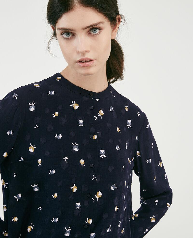 Printed shirt Pinecones dark navy Davocat