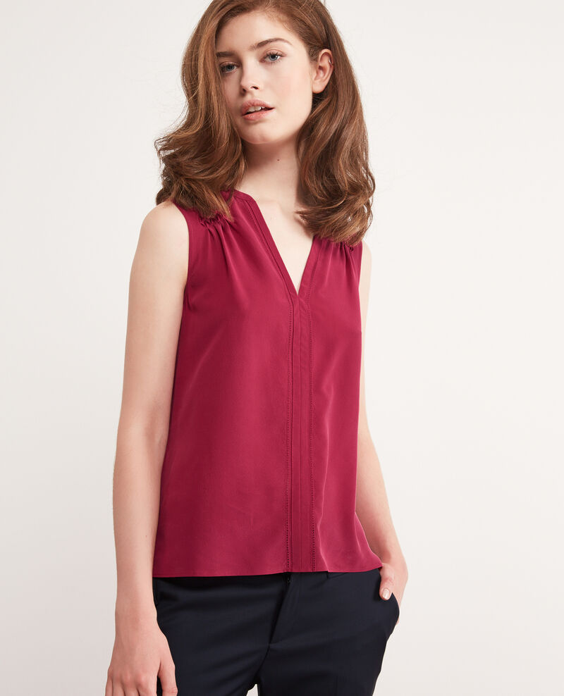 Silk top Raspberry Canomi