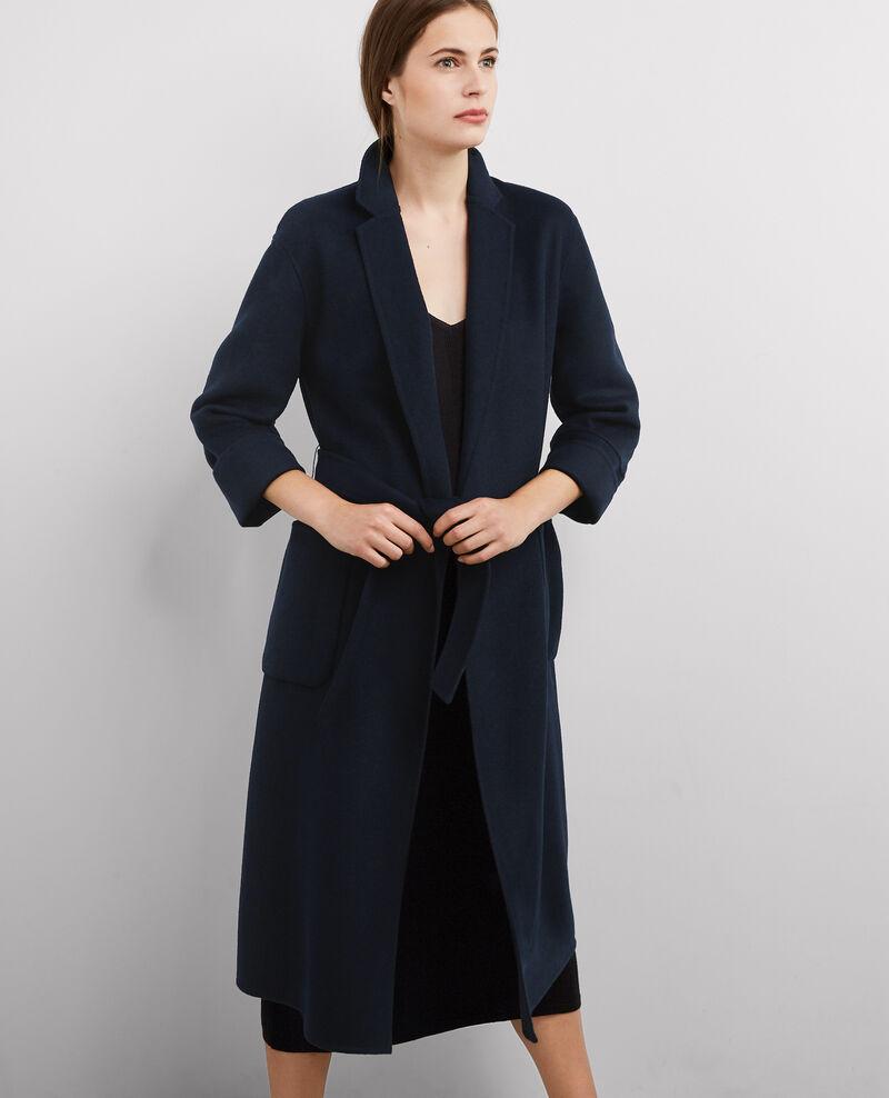manteau oversize avec laine dark ocean bille comptoir des cotonniers. Black Bedroom Furniture Sets. Home Design Ideas
