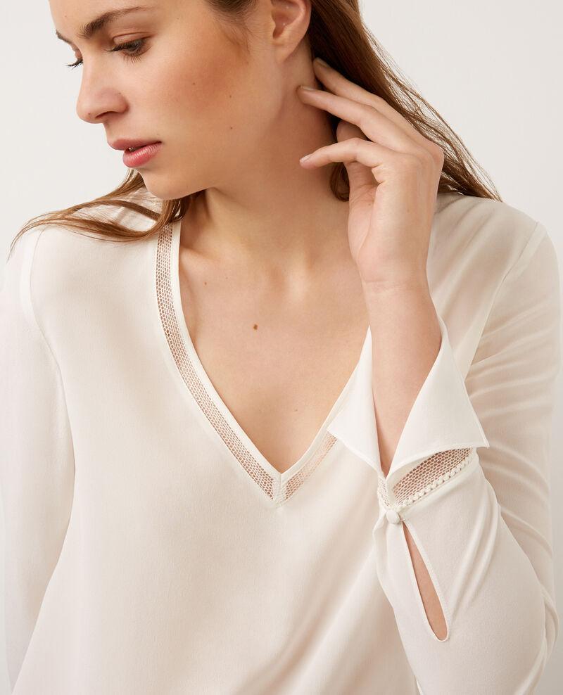 Blusa de seda Off white Byim