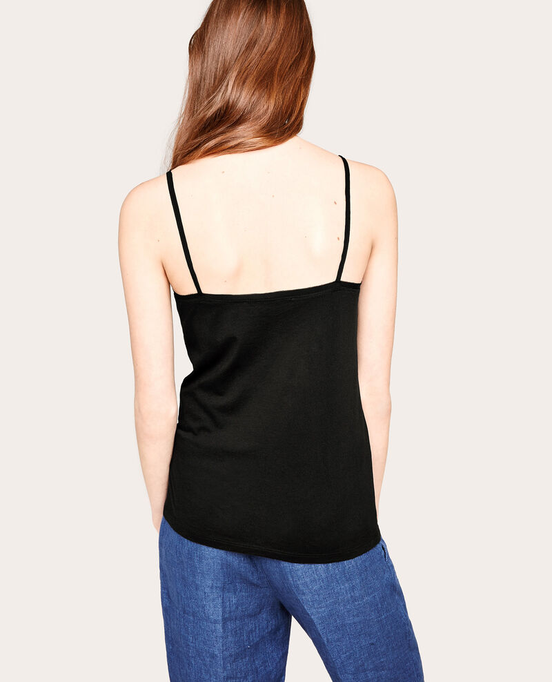 Camiseta de dos tejidos Noir Awally