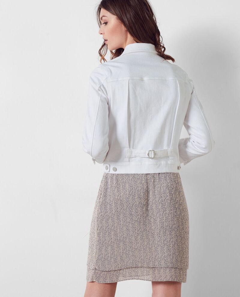 Veste courte en jeans Blanc Centaine