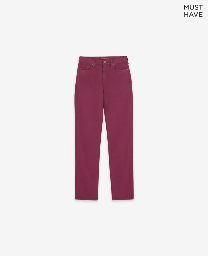 Jeans cigarette tacto piel de melocotón Purple Dhanna