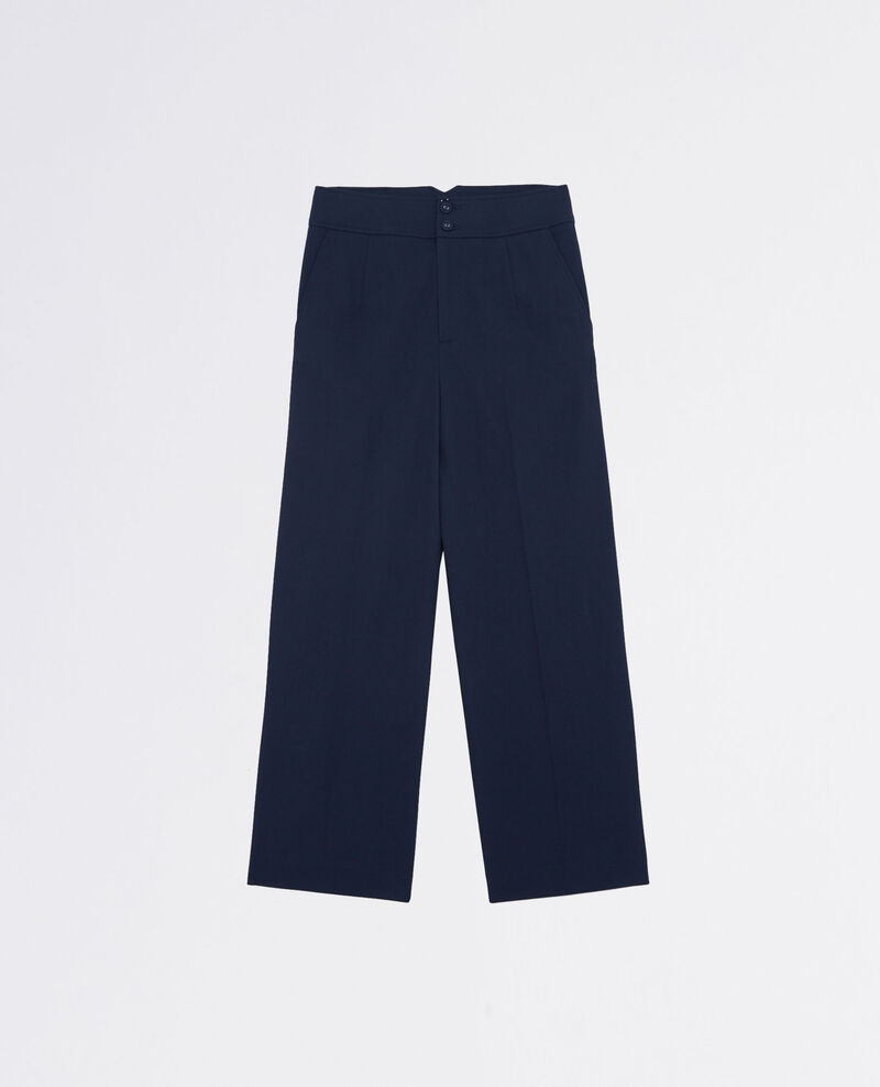 Weite Hose in Cropped-Länge Midnight blue Calcium