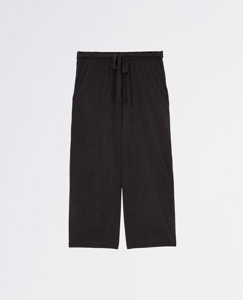 pantalon esprit jupe culotte fluide noir cavaliere comptoir des cotonniers. Black Bedroom Furniture Sets. Home Design Ideas