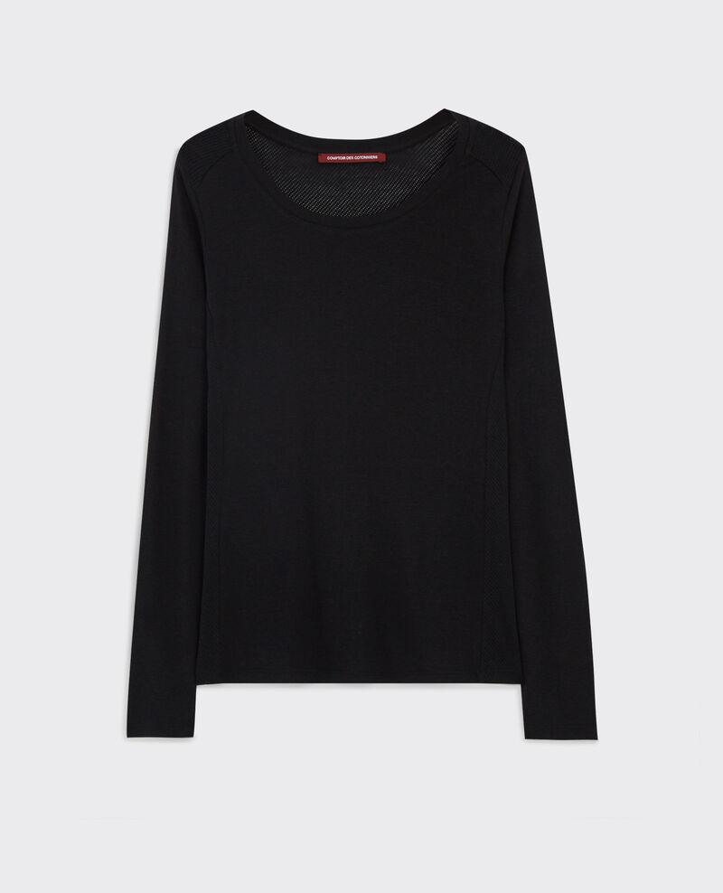 Shirt with openwork details Noir Cambridge