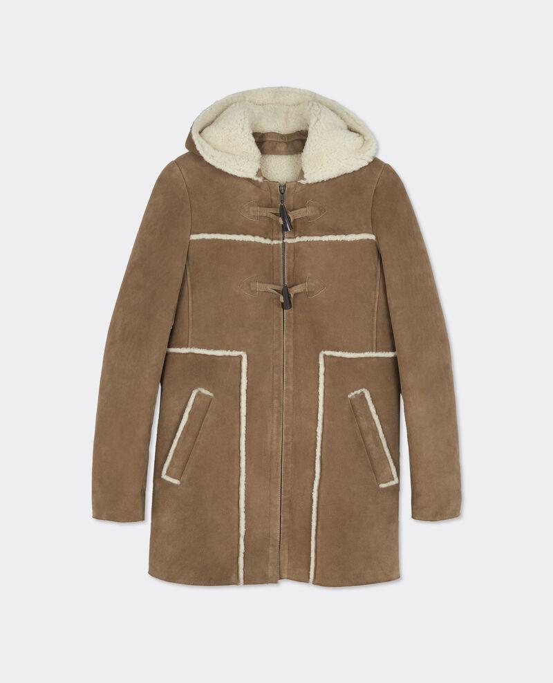Manteau peau lainee femme comptoir des cotonniers - Peau lainee comptoir des cotonniers ...