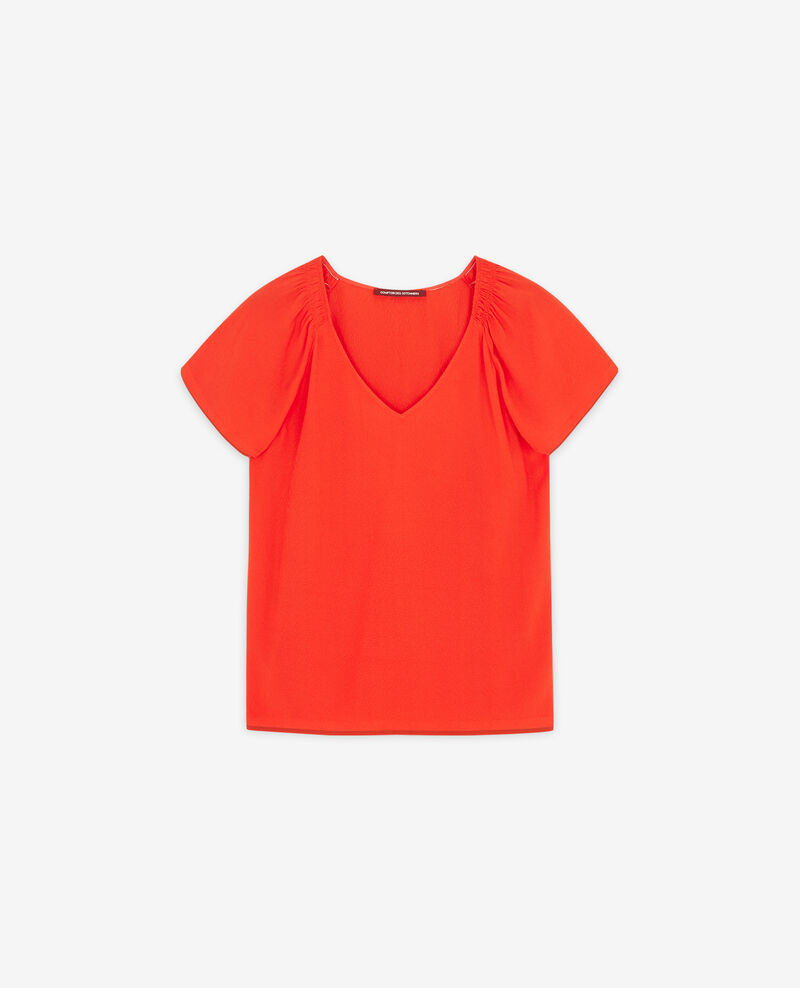 Lightweight blouse Orange red Deal