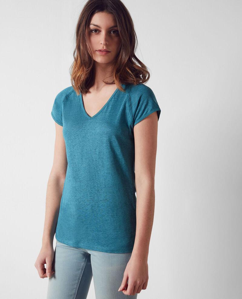 T-Shirt en lin Bondi blue Caramel