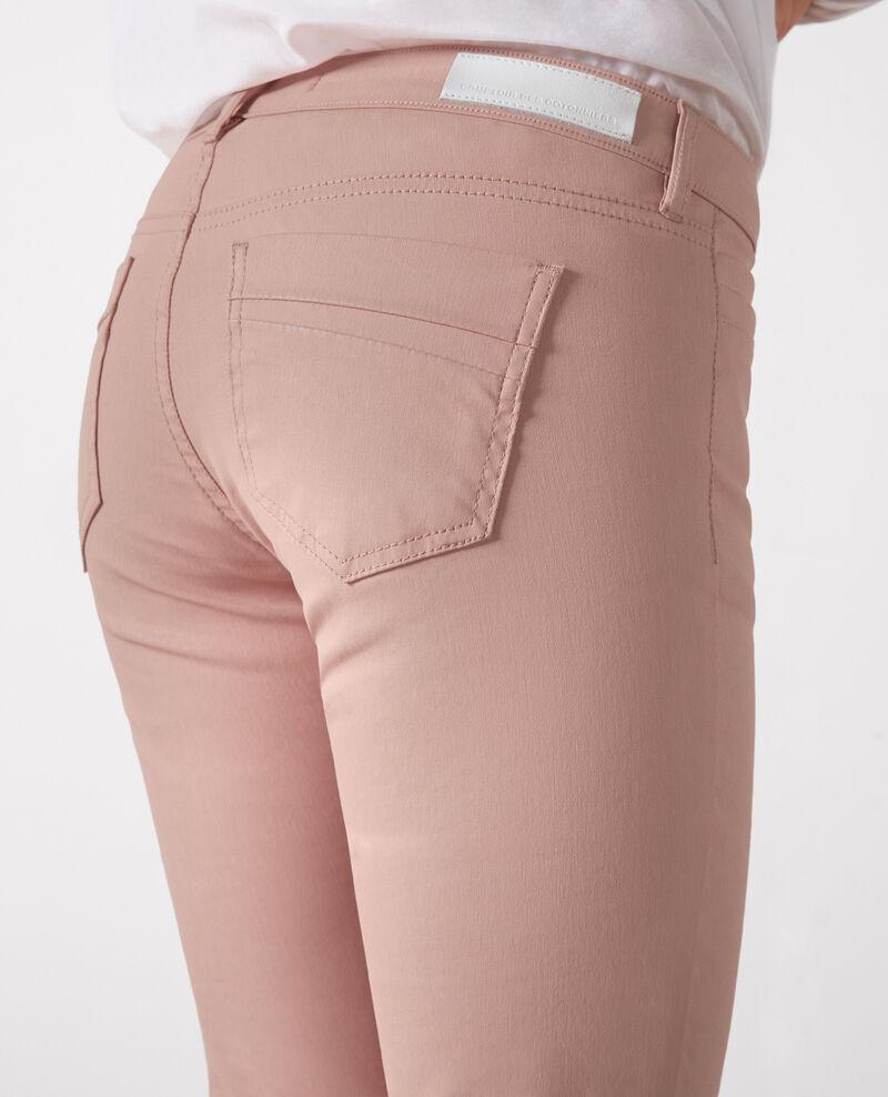 """Jeans slim résiné """"Ma demoiselle"""" Peach Crocodile"""