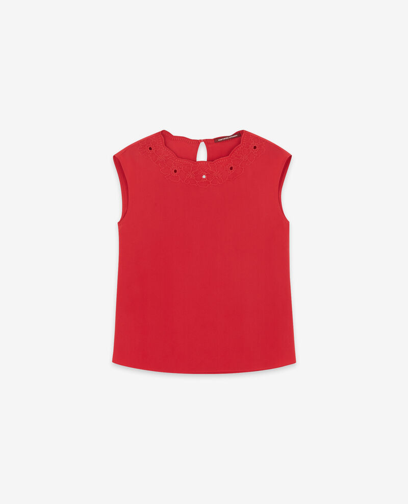 Blouse en soie Chili pepper Durant