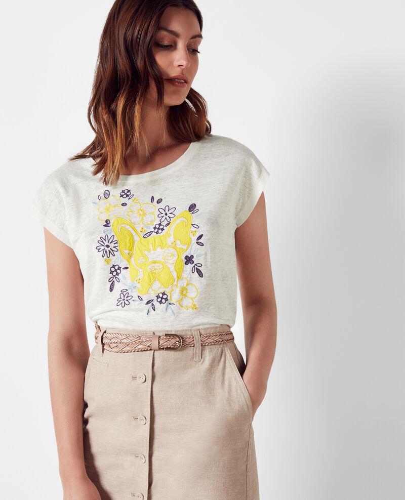 Linen Léon t-shirt  Bouton d'or Cadence