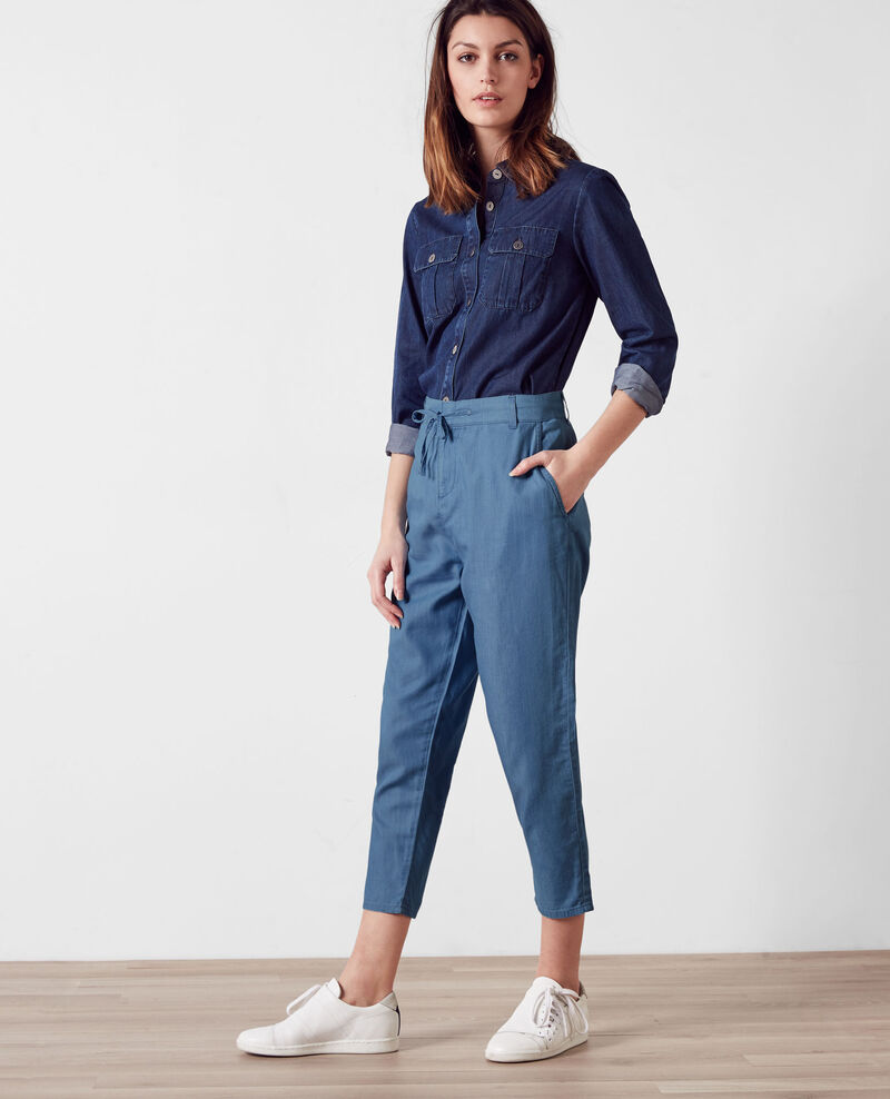Pantalon relax en denim Light blue Creatif