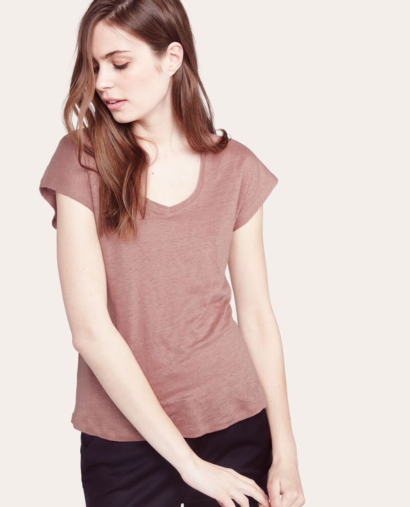 Camiseta 100% lino ''madre ideal'' Canyon rose Acerou