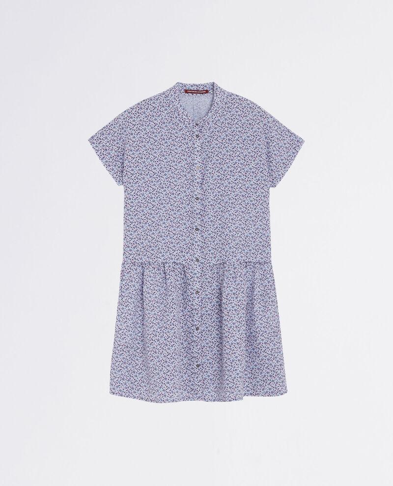 Robe chemise imprimée en lin Linen meadow crimson Cutiepie