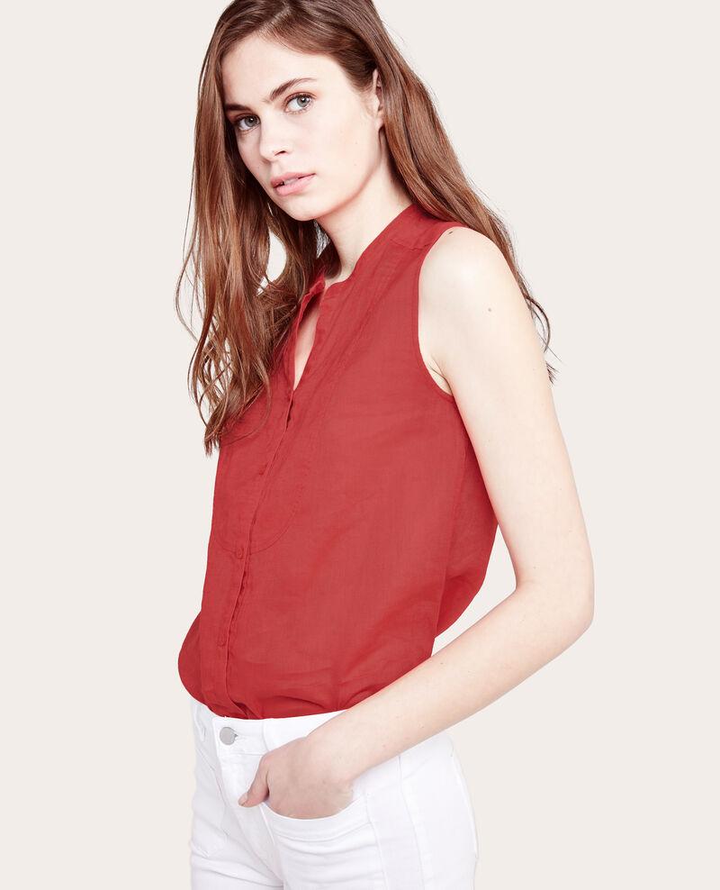 Camisa sin mangas 100% lino Blush Ahier