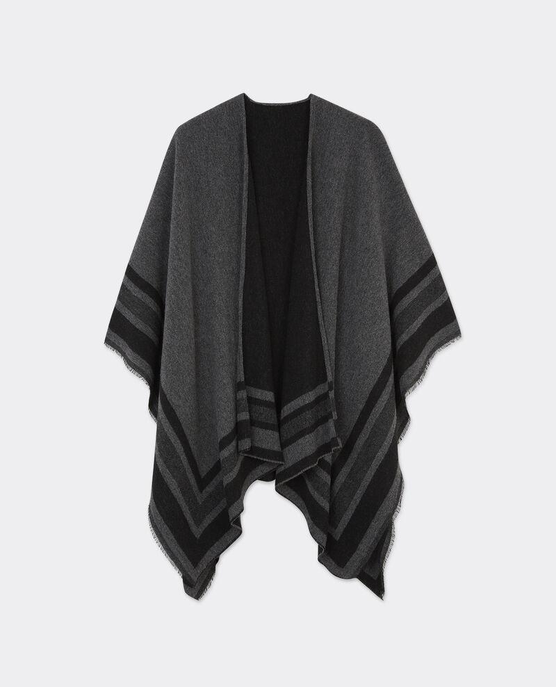 Reversible cape black grey bocape comptoir des cotonniers - Cape comptoir des cotonniers ...