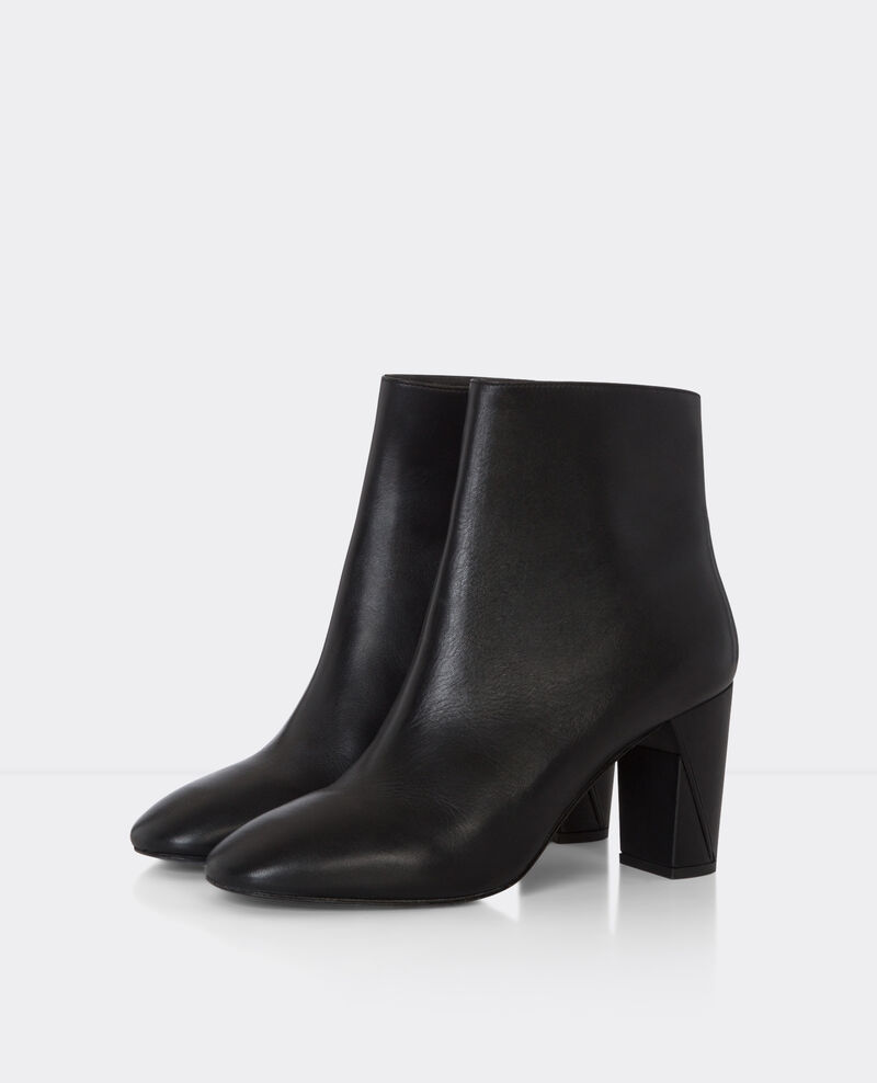 High boots en cuir Noir Berlin
