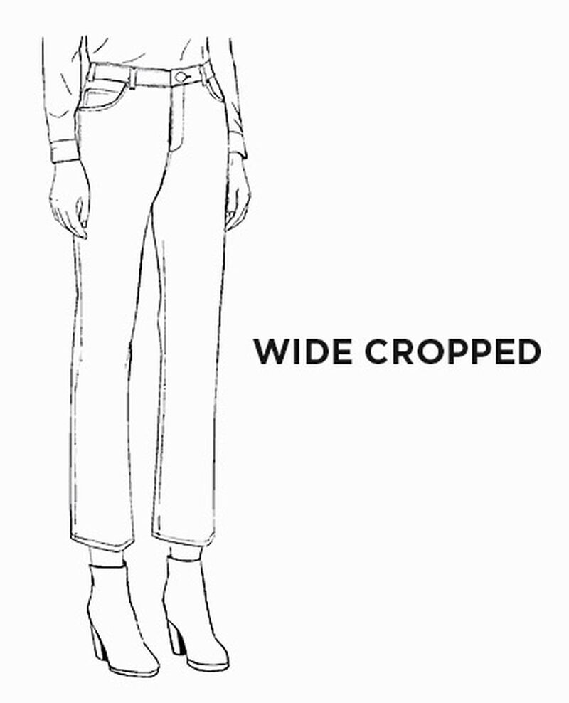 Jeans wide cropped Femme