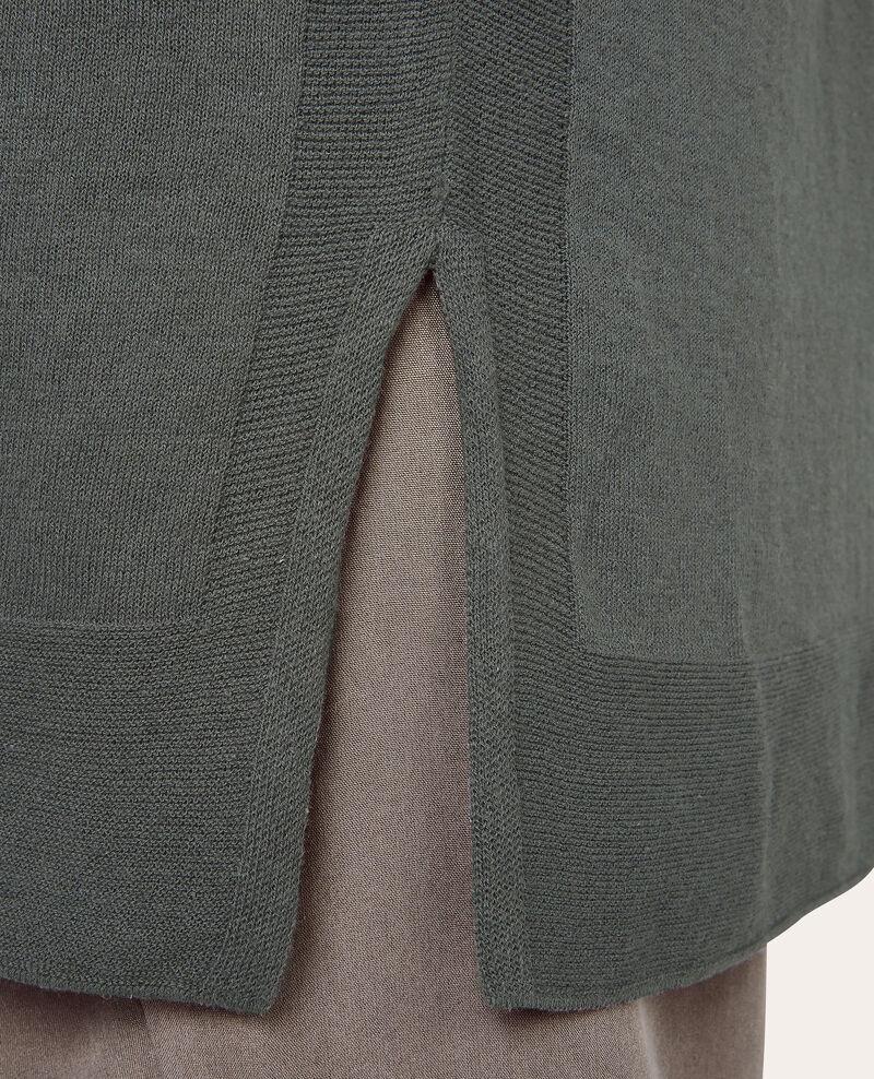 Cardigan long en cotton lin Sauge Amsonite