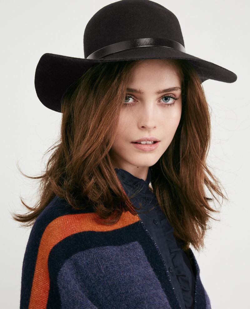 Wool wide-brimmed hat Noir Dapline