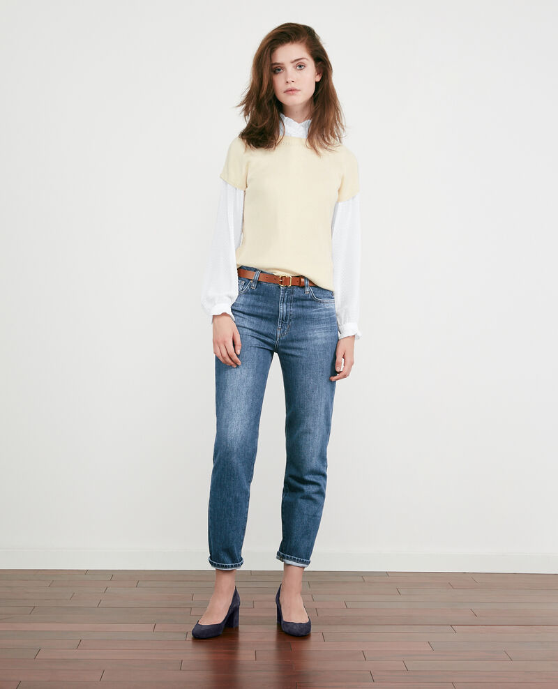 Textured ruffle shirt Blanc Dialogue