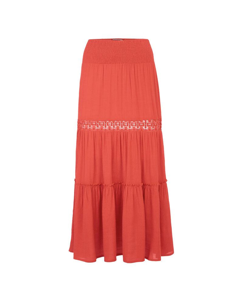 Falda larga con detalle de encaje Blush Acacia