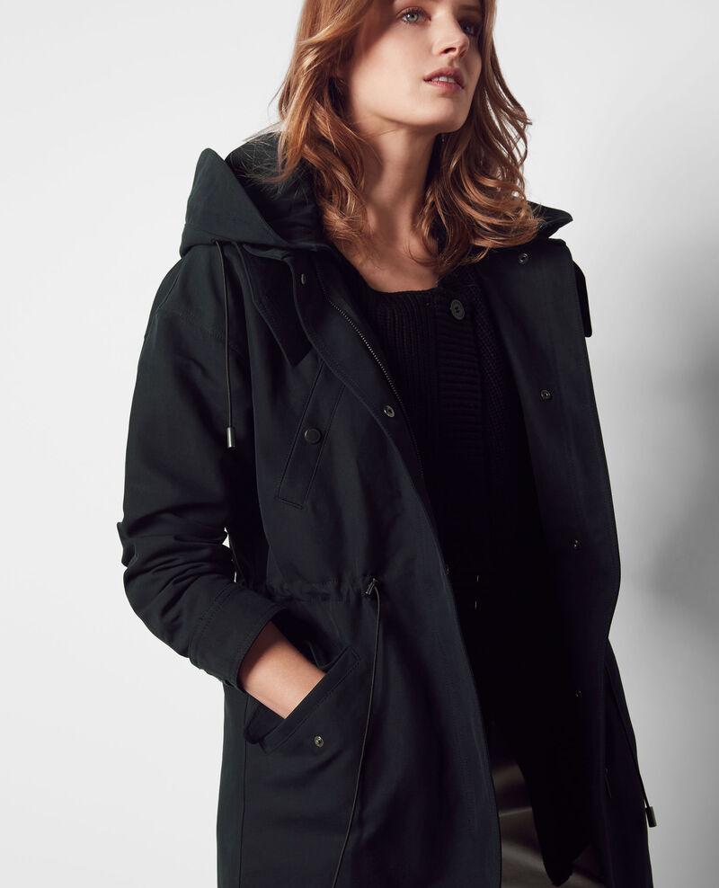 Parka capuche amovible dark navy casquette comptoir - Doudoune femme comptoir des cotonniers ...