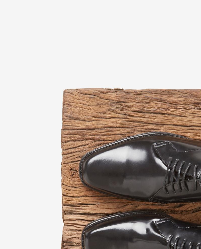 Derbies en cuir Noir Daumesnil