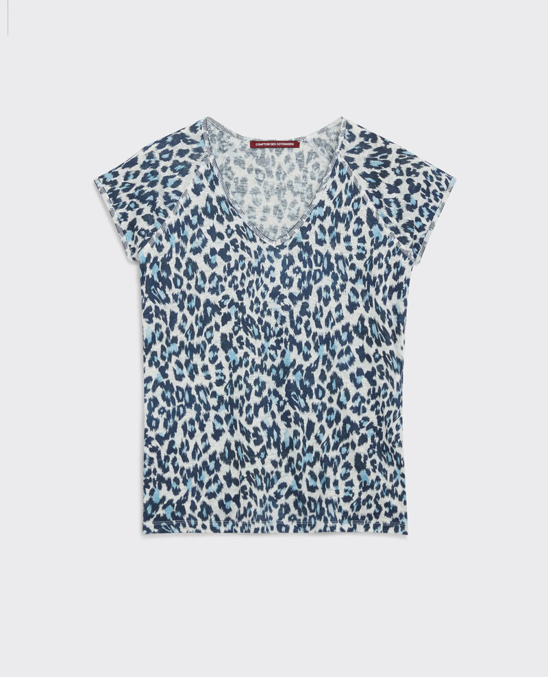 T-Shirt en lin imprimé Wild panthere Curacao