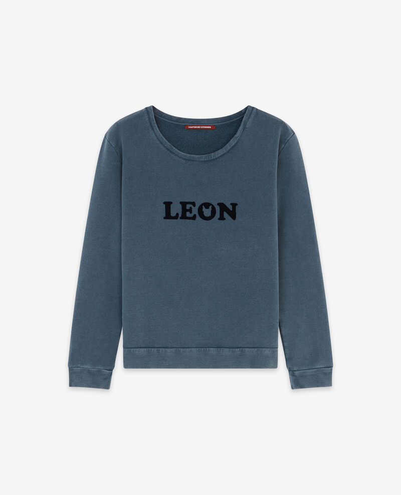 Sudadera con estampado Léon Navy Douchoir