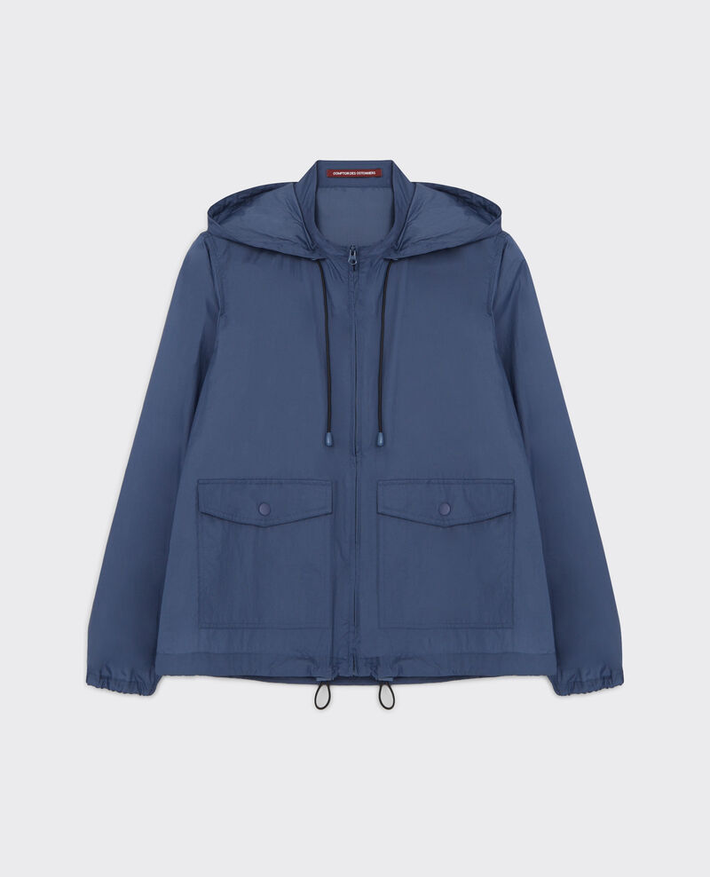 Windcheater parka  with hood Ink blue Canot