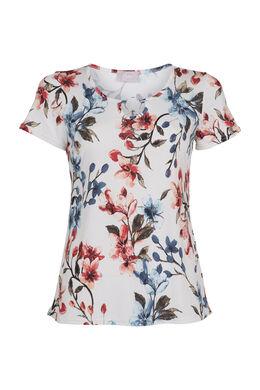 T-shirt imprimé avec bijou, Framboise