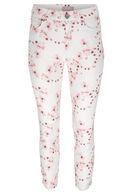 Pantalon imprimé japonisant 7/8 ième, Vieux rose