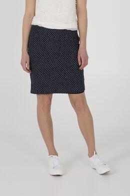 Rechte rok in stippenkant, Marineblauw